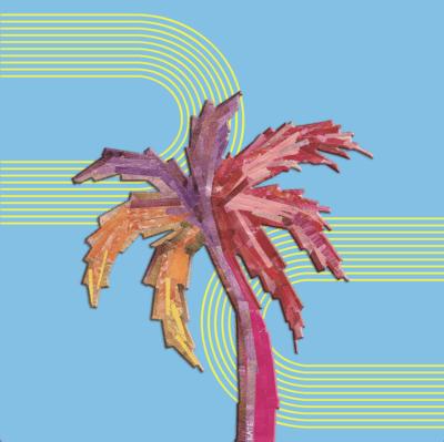 Kate Ferguson palm tree collage art